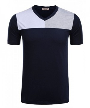 HOTOUCH Contrast Patchwork Sleeve T Shirt