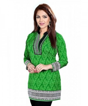 TrendyFashionMall Printed Green Multi Tunics