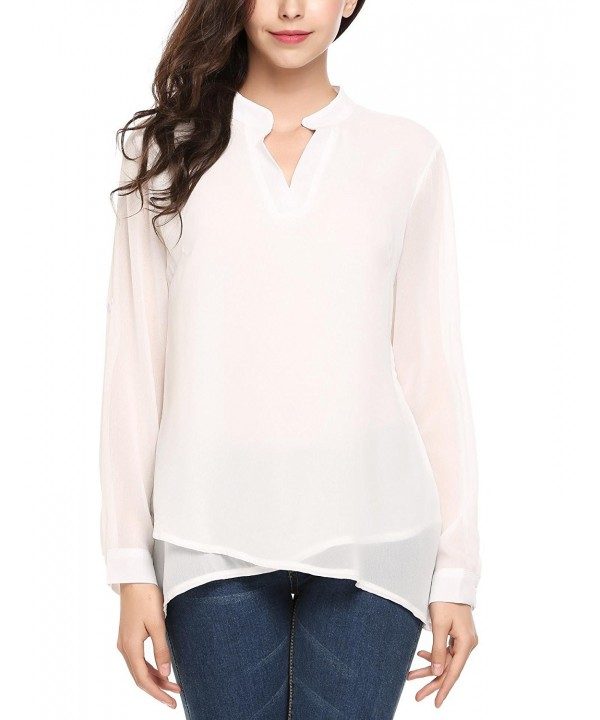 Zeagoo Womens Chiffon Sleeve Blouse