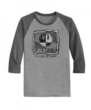 Quadrant Tri blend Ragland Sleeve T Shirt small