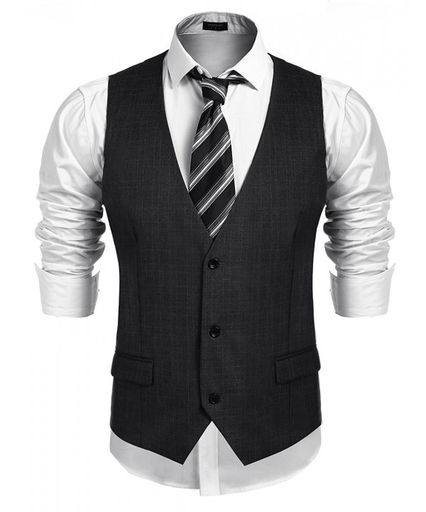 Coofandy Business Skinny Wedding Waistcoat