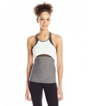 Zobha Womens Racerneck Singlette Heather