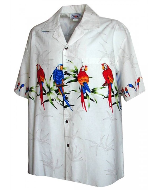 Hawaiian Shirt Men Parrot Stripe
