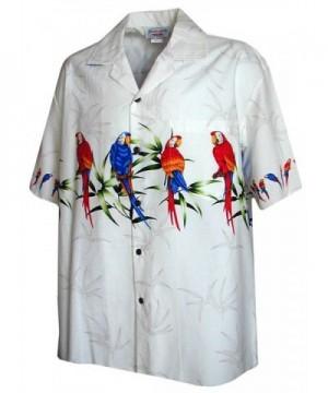 Hawaiian Shirt Men Parrot Stripe