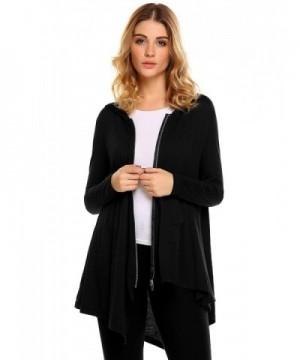 Zeagoo Hoodies Sweatshirt Outerwear Asymmetric