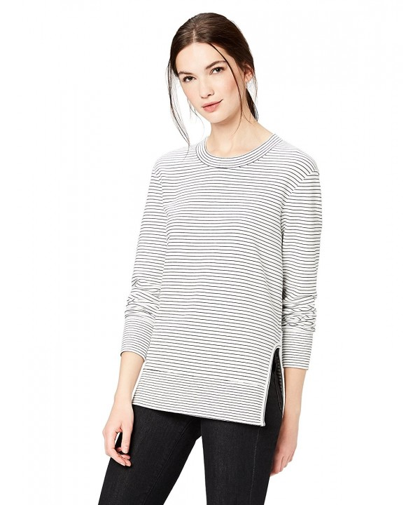 Daily Ritual Pullover Cutouts Black White