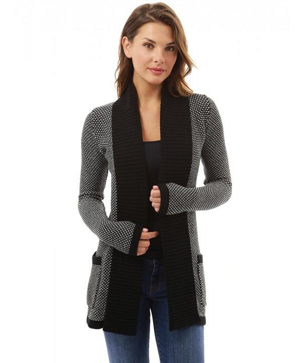 PattyBoutik Womens Marled Sweater Cardigan
