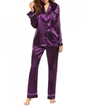 MAXMODA Womens Pajamas Button Down Design
