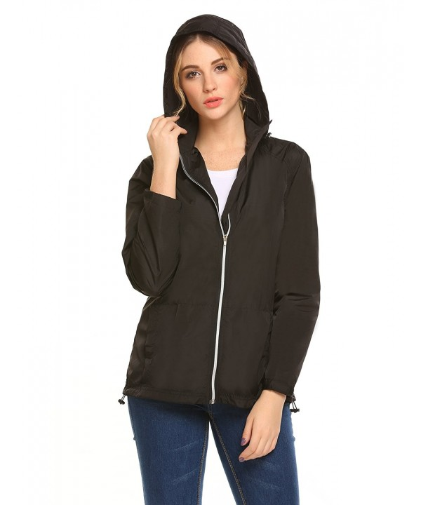 Womens Lightweight Waterproof Raincoat Outdoor