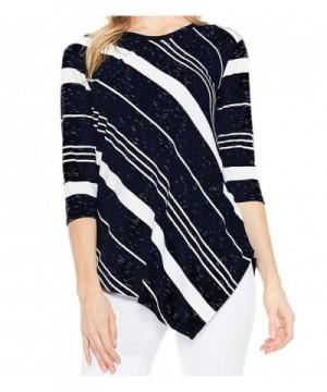 IIYoYo Ladies Stripe Trendy Asymmetrical