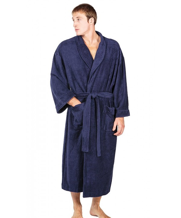 Mens Luxury Terry Cloth Bathrobe