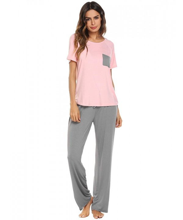 Vansop Womens Cotton Sleepwear Pajamas