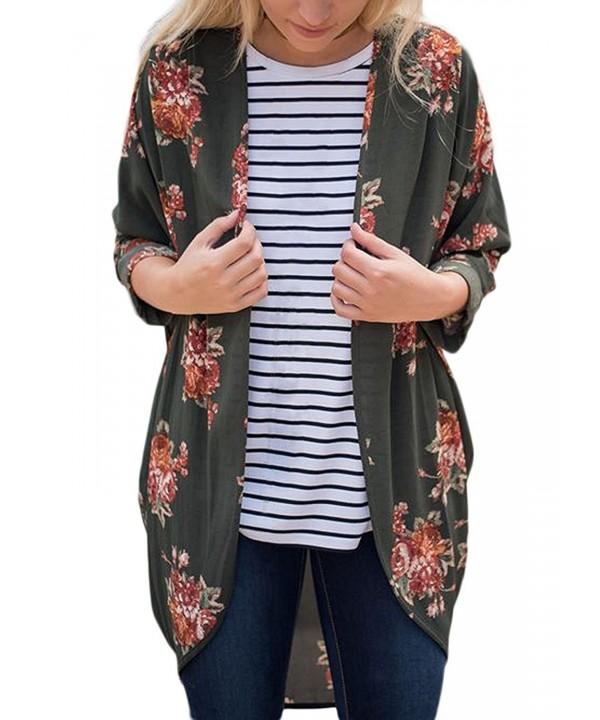 XUERRY Womens Floral Cardigan Outwear