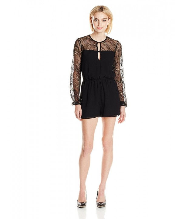 BCBGeneration Womens Sequin Romper Black