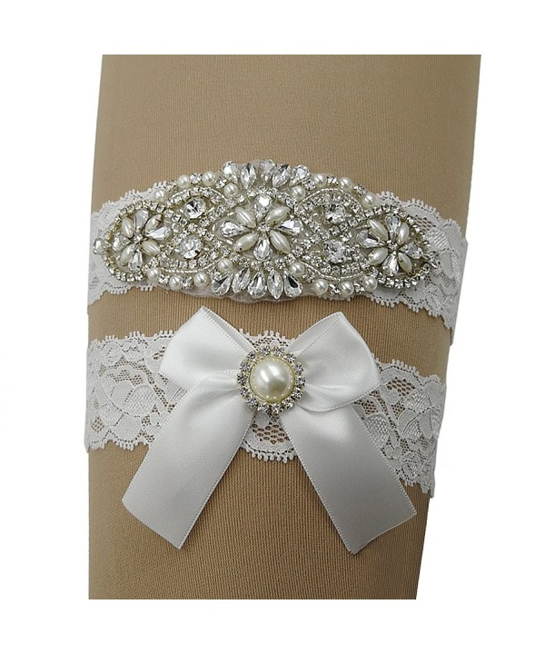 564c4d407 Vintage Lace Bridal Garter Set Wedding Garters For Bride White ...