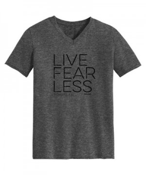 Fear Less V Neck Dark Grey