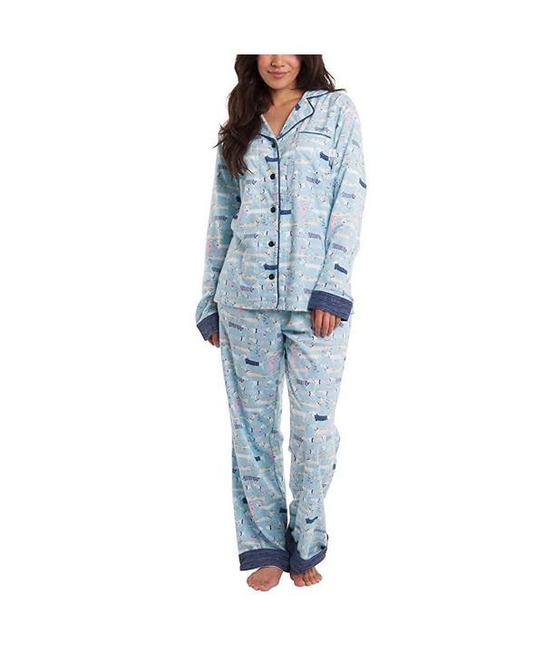Munki Ladies Flannel Set Blue