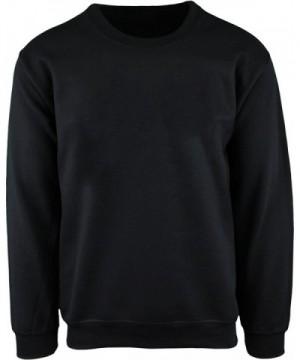ShirtBANC Mens Crewneck Sweater Black