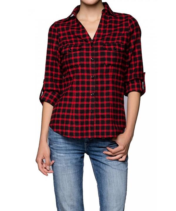 Juniors Cotton Button Sleeve Shirts