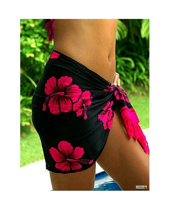 World Sarongs Hibiscus Swimsuit Cover Up