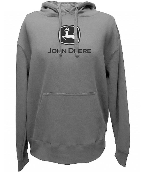 John Deere Logo Hoodie Charcoal