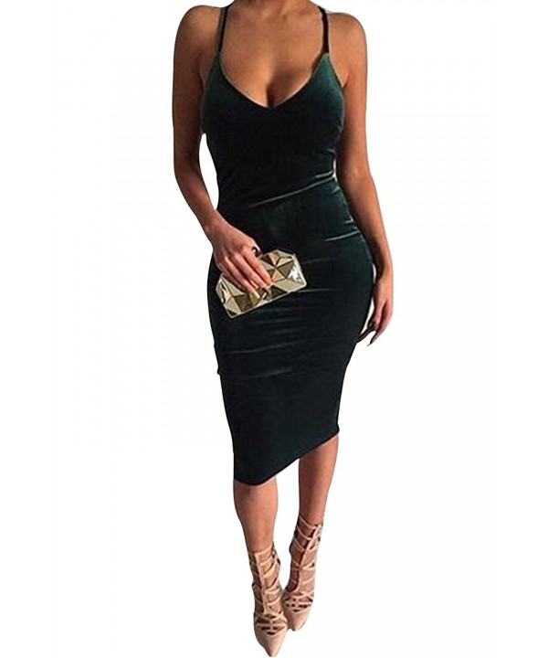 Mitario Femiego Bodycon Velvet Backless