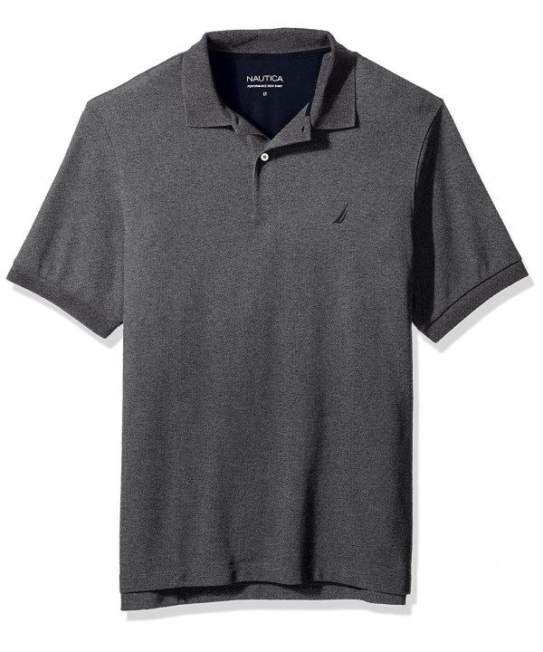 Nautica Solid Shirt Charcoal Heather