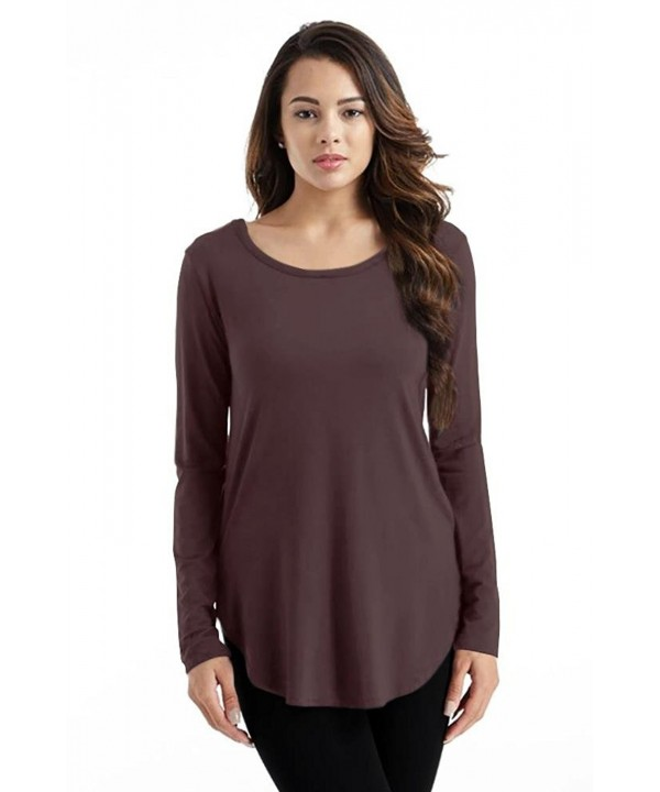 Brown Shirt Women Modal Sleeve