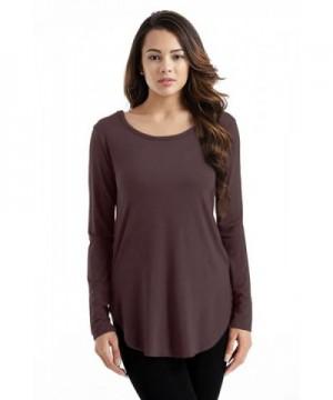 Brown Shirt Women Modal Sleeve