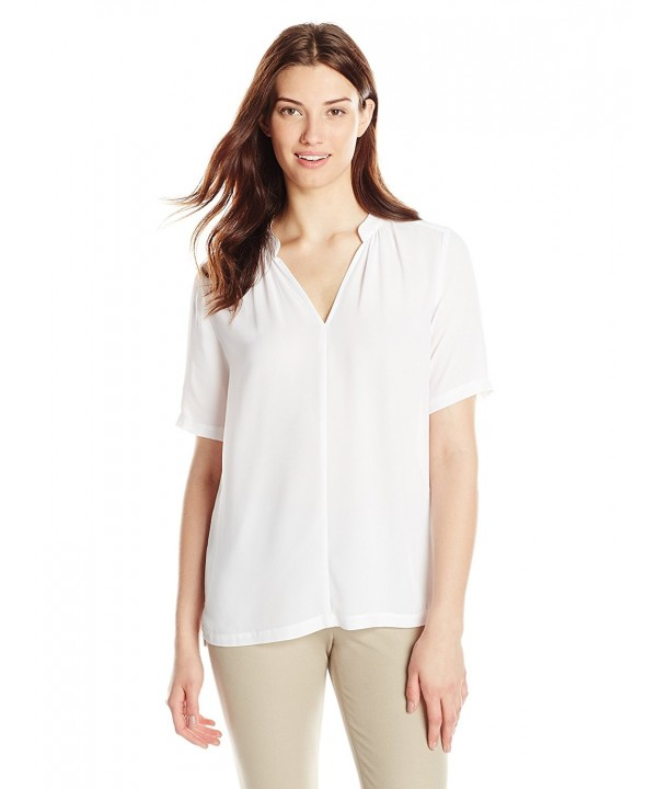 NYDJ Womens Double Georgette Blouse