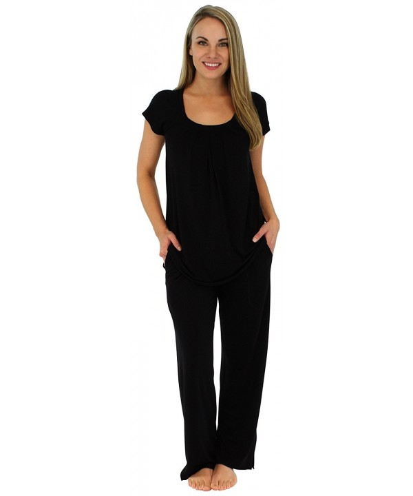 PajamaMania Sleepwear Stretchy Oversized PMR385BLACK XL