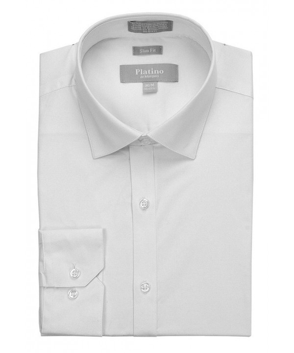 MARQUIS Spandex Dress Shirt White