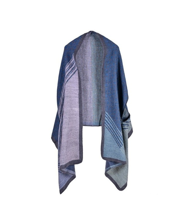 Bakerdani Womens Color Poncho Cardigan