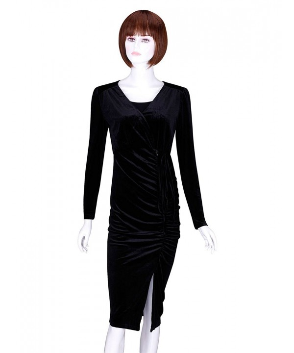 ADAMARIS Dress Pleuche Sleeve Ruched