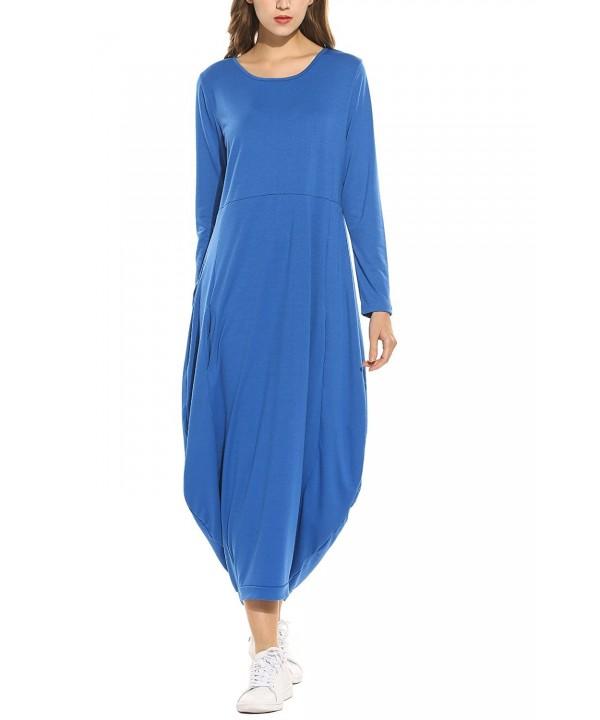 Zeagoo Women Sleeve Pockets Casual