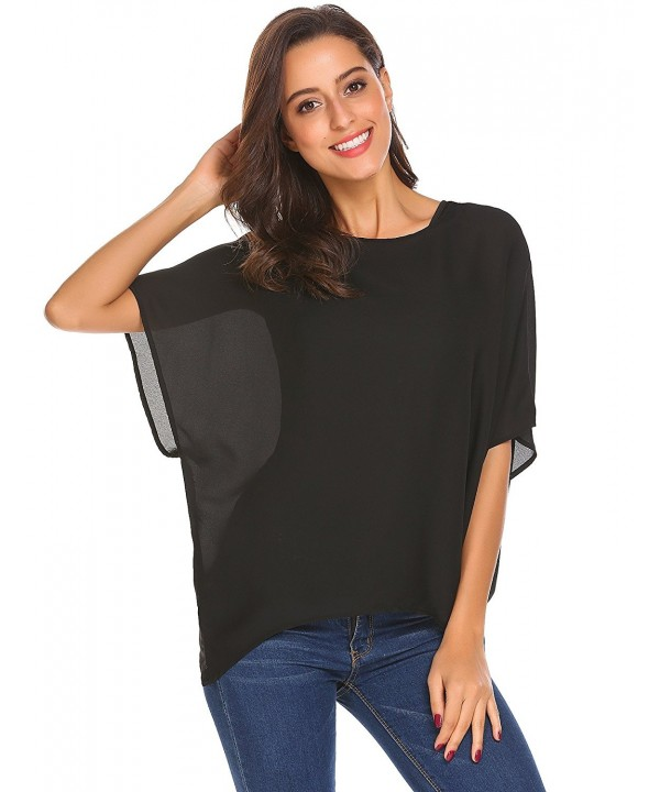 Yhlovg Casual Pullover Chiffon Blouse