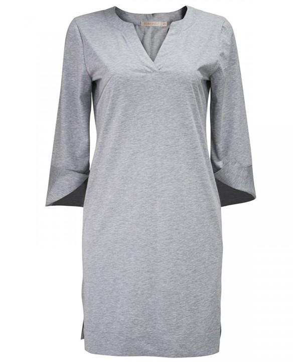 KalvonFu Womens Cotton Sleepwear Nightshirt