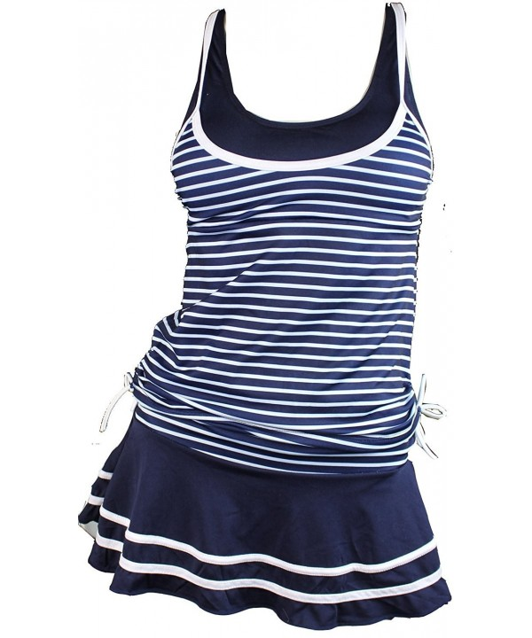 MiYang Womens Tankini Striped Vintage