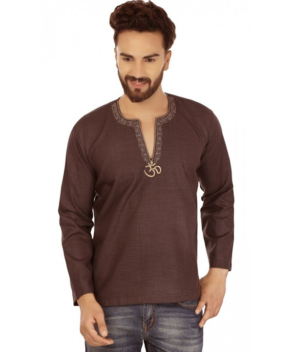 Indian Clothing Fashion Embroidered Chocolate