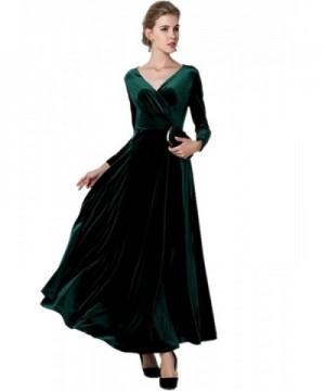 Medeshe Womens Emerald Christmas Velvet