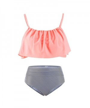 Lemef Falbala High Waisted Shoulder Swimsuit