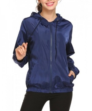 Easther Waterproof Lightweight Windbreaker Raincoat