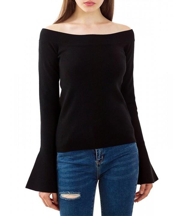 PRETTIGO shoulder sweaterflare pullover Sweater