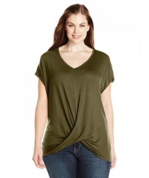 Paper Tee Womens Plus Size V Neck