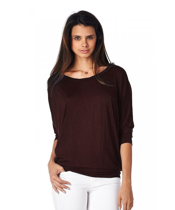 Jubilee Couture Pullover Blouse Brown X Large