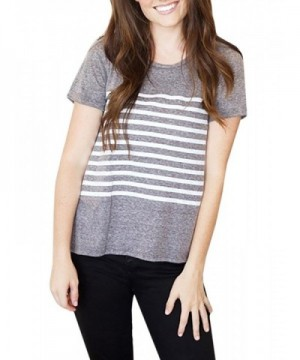 Imysty Womens Casual Striped T Shirts