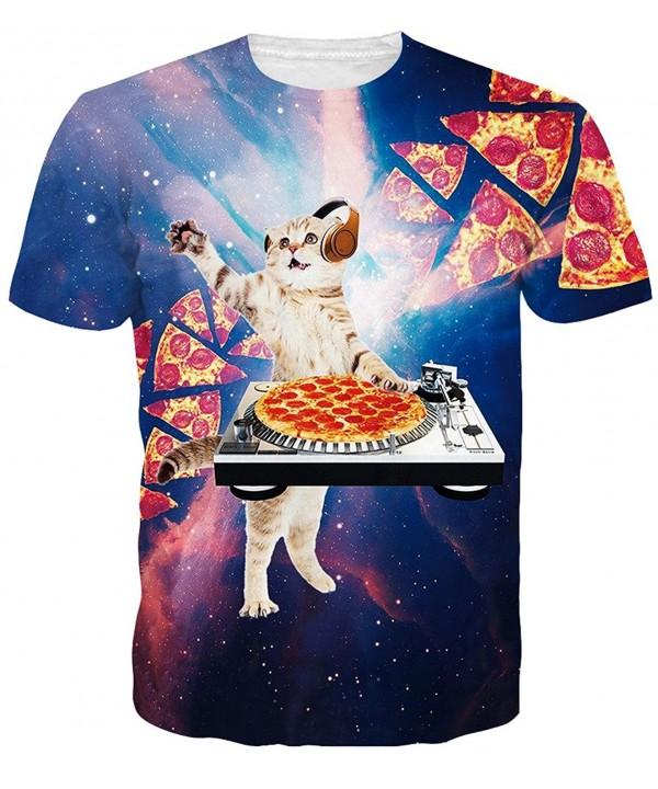 Idgreatim Cosmic Pizza Sleeve T Shirts