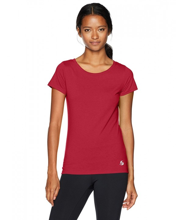 Soffe Womens Juniors Sleeve Cardinal