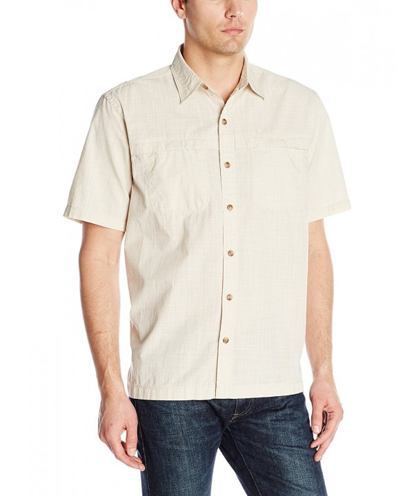 Arrow Short Sleeve Seaside Textured Oyster