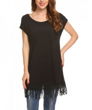 Zeagoo Womens Casual Scoop Sleeve